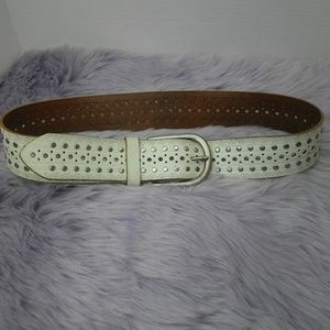 Lp Linea Pelle leather studded cutout belt size M